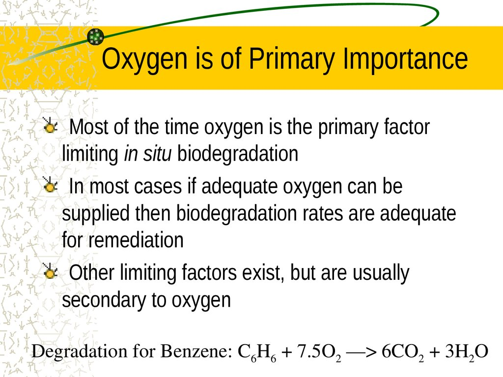 Oxygen is of Primary Importance