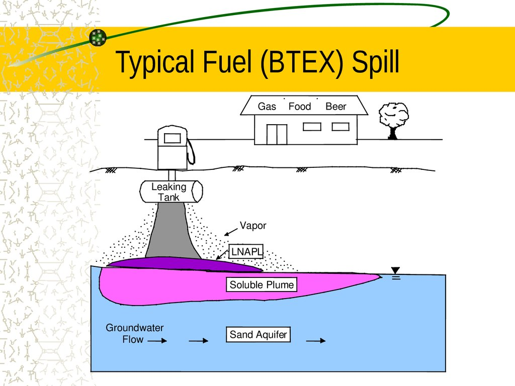Typical Fuel (BTEX) Spill