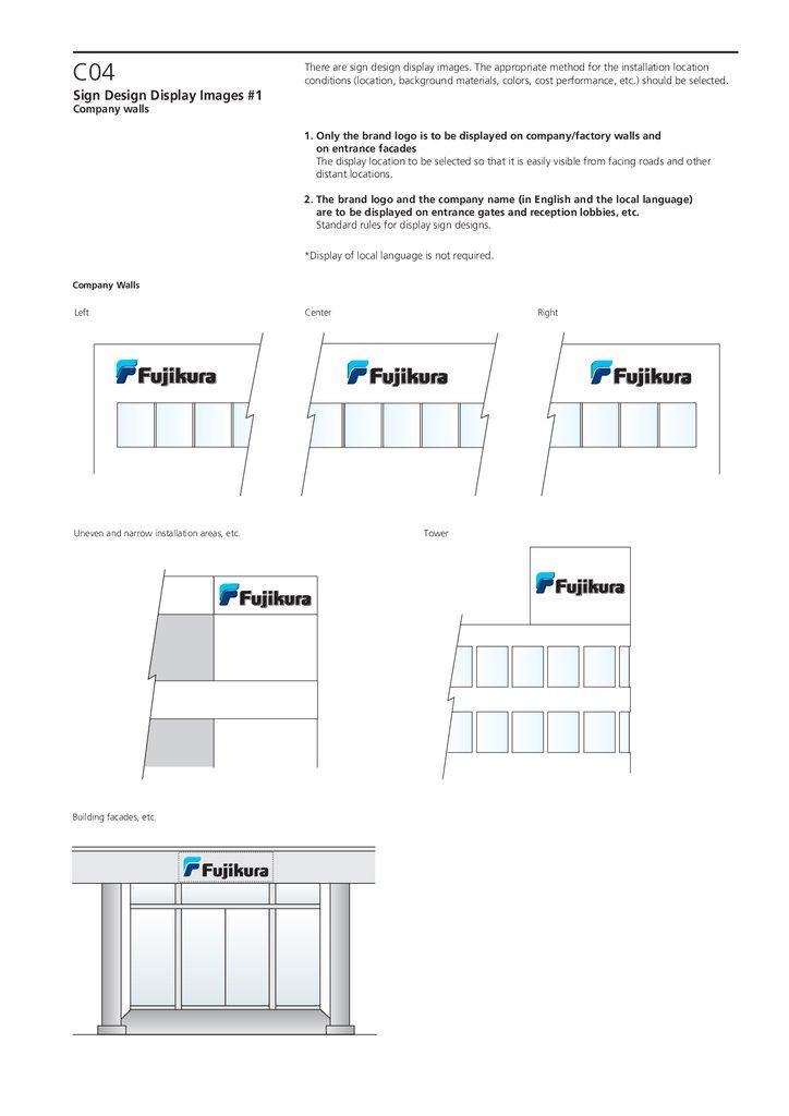 Fujikura Group Basic Rules For Brand Logo