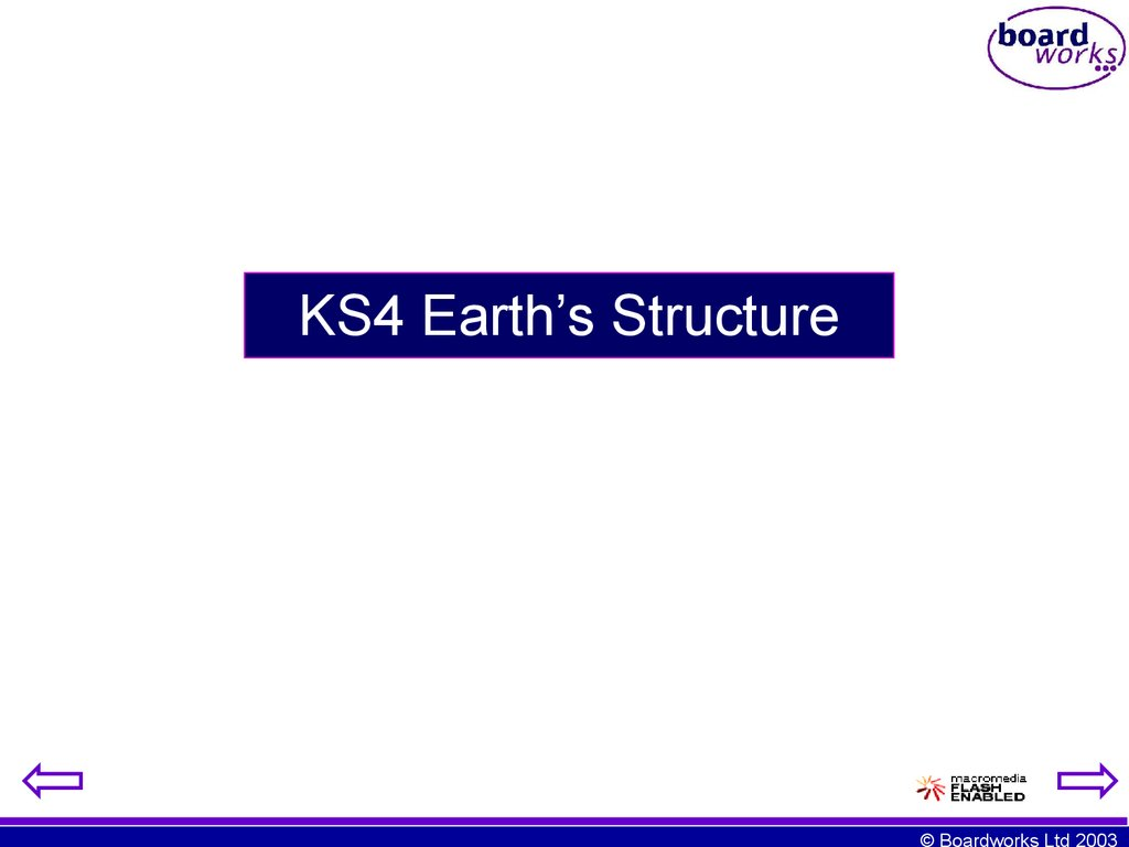 KS4 Earth's Structure
