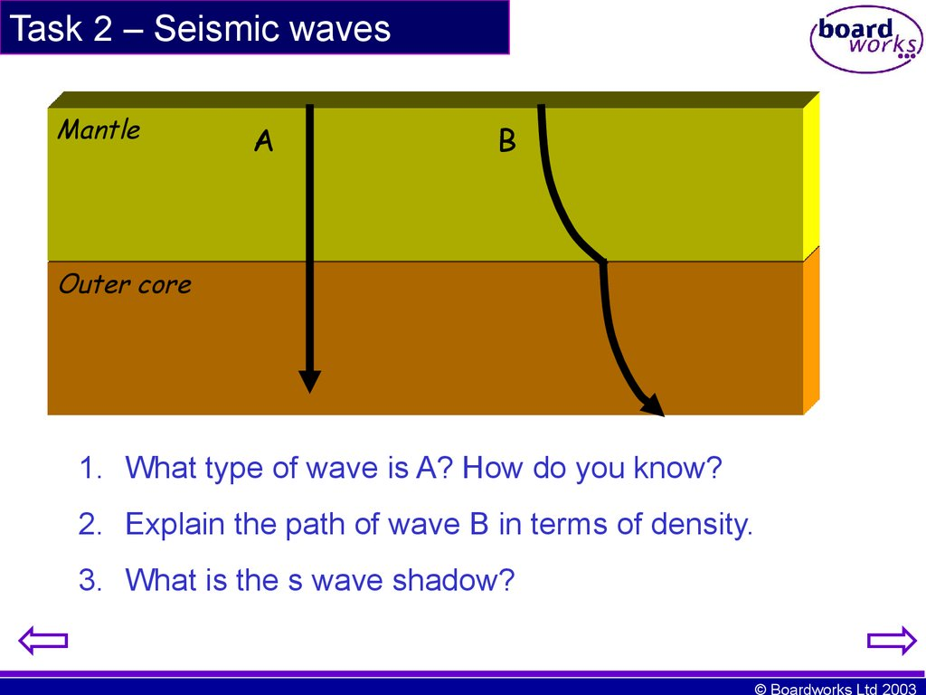 Task 2 – Seismic waves