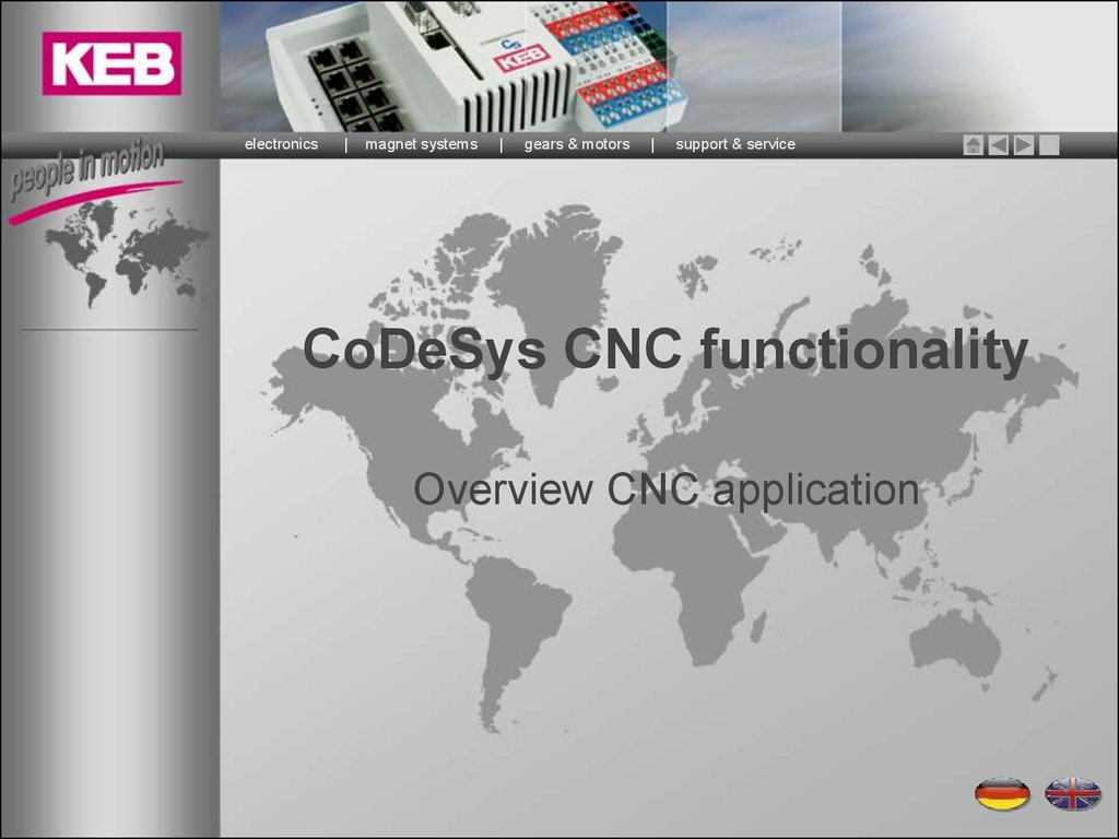 CoDeSys CNC functionality - online presentation