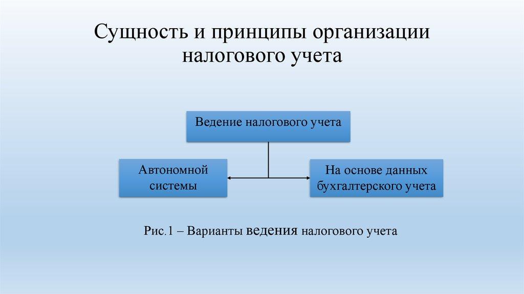 Учета организация шпаргалка налогового ведения способы его