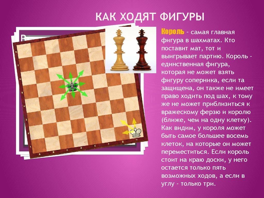знакомство с игрой в шахматы