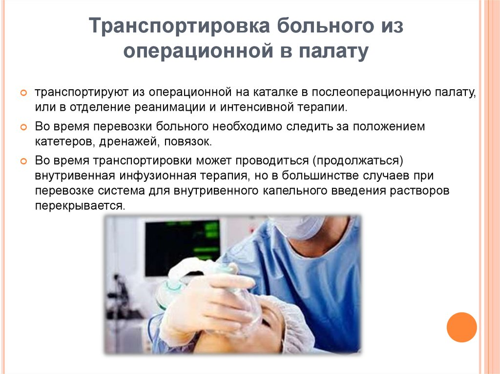 Транспортировка пациента алгоритм действий