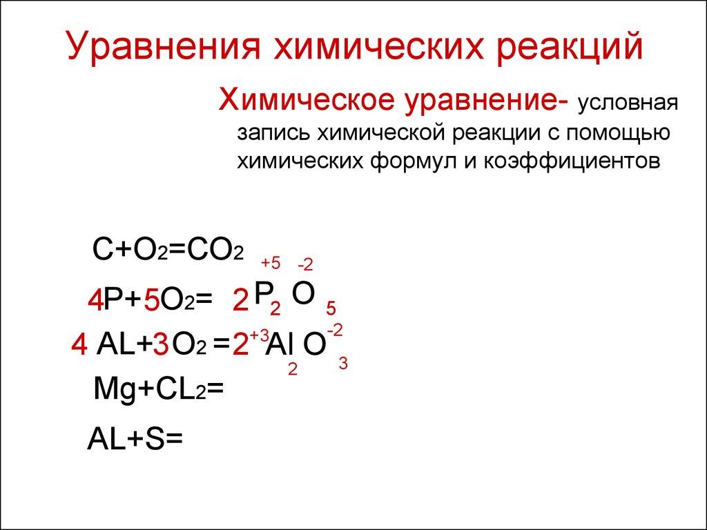 Видеоуроки по химии 8 класс химические уравнения