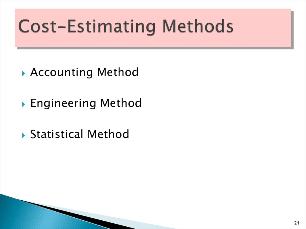 Cost-Estimating Methods
