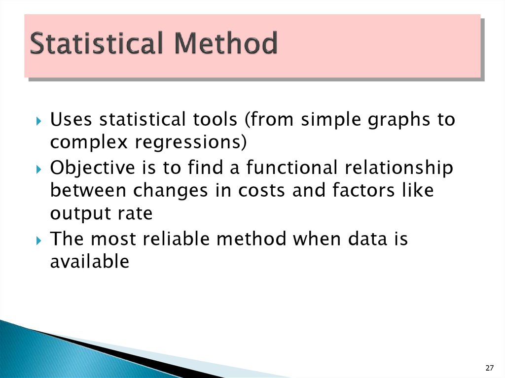 Statistical Method