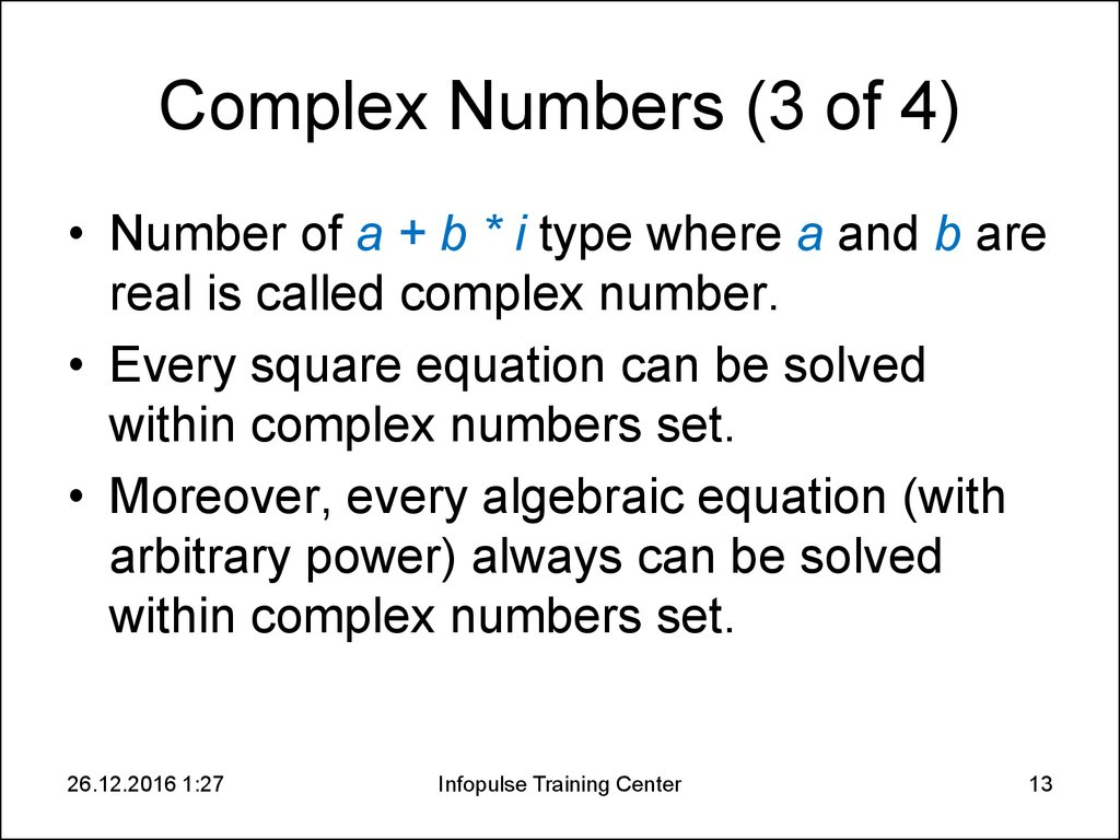 Complex Numbers (3 of 4)