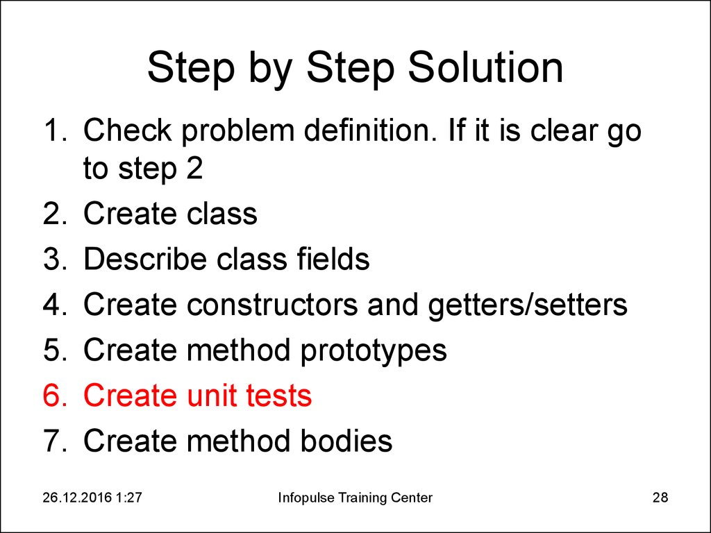 Step by Step Solution
