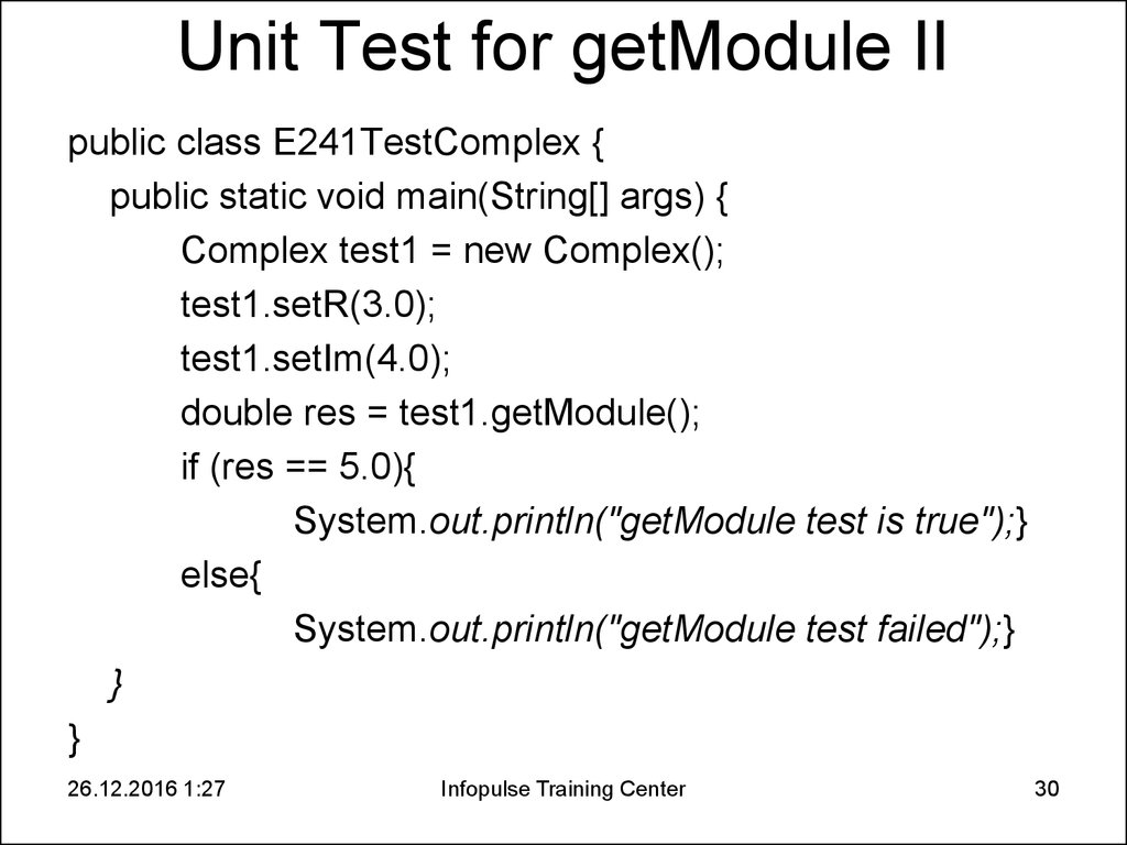 Unit Test for getModule II