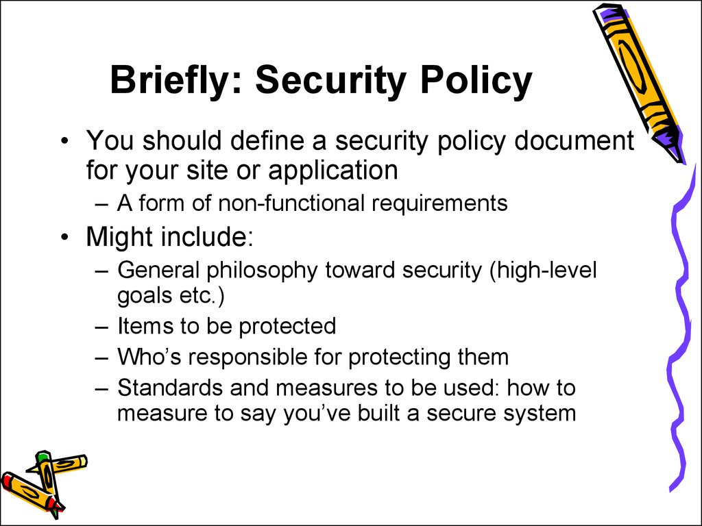 Traditional Security Issues - online presentation