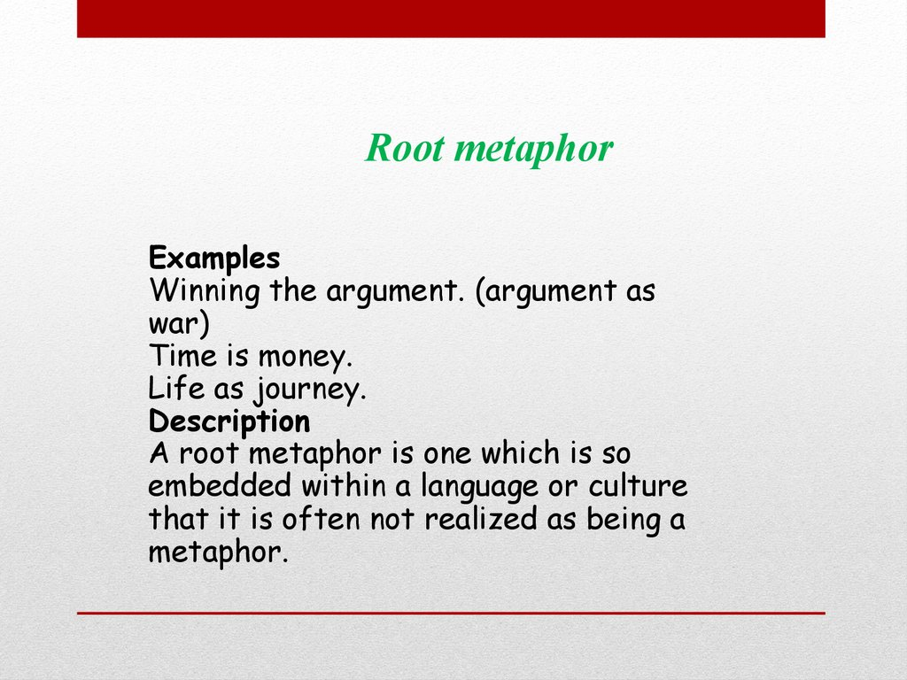 Metaphorical Extension Examples Image Collections Example Cover