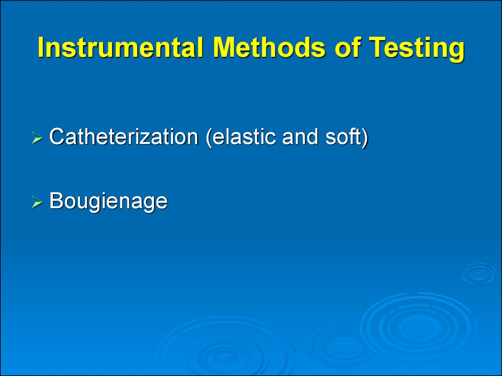 Instrumental Methods of Testing
