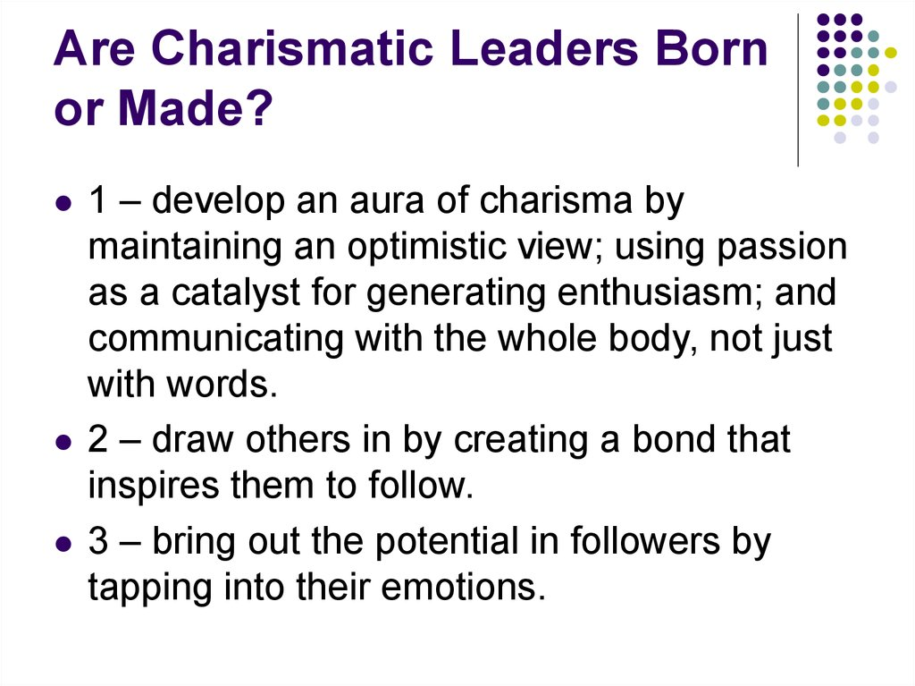 is the leadership born or made