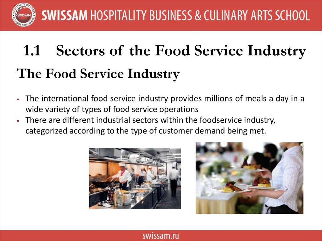 1.1 Sectors of the Food Service Industry