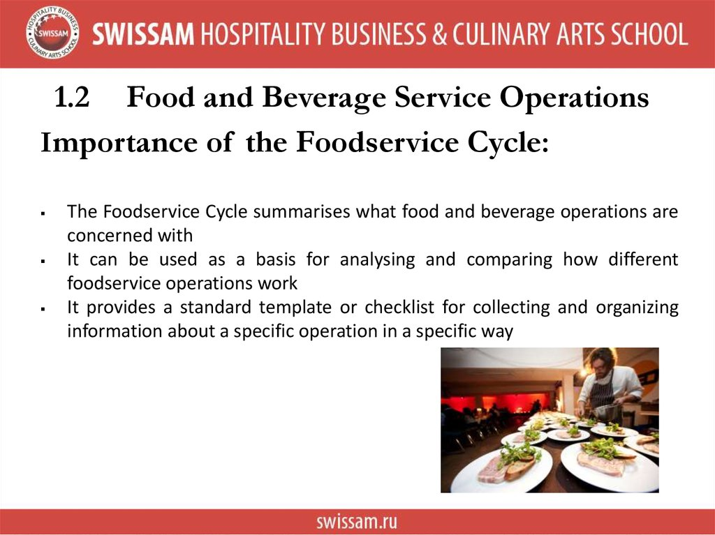 food services operation The food service director provides oversight of the west river food service operations, including meal service, staffing, scheduling, menu planning, ordering, staff training and finances serve as the.
