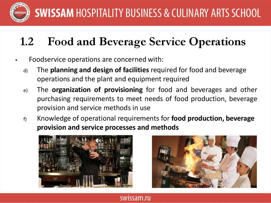 Different Types Of Food Service Industry