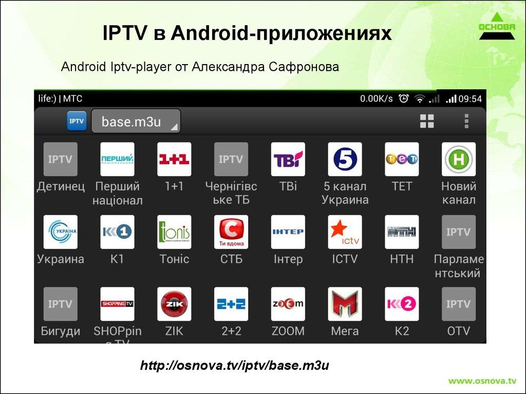 IPTV - online presentation