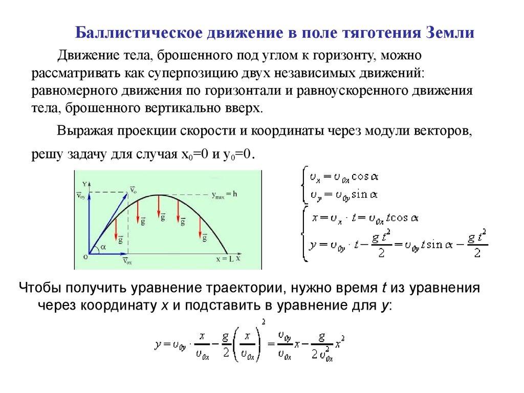 Решение задач на баллистическое движение 10 класс решение задач по микроэкономике бесплатно онлайн