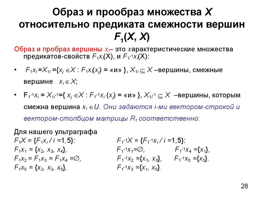 образ и прообраз функции примеры