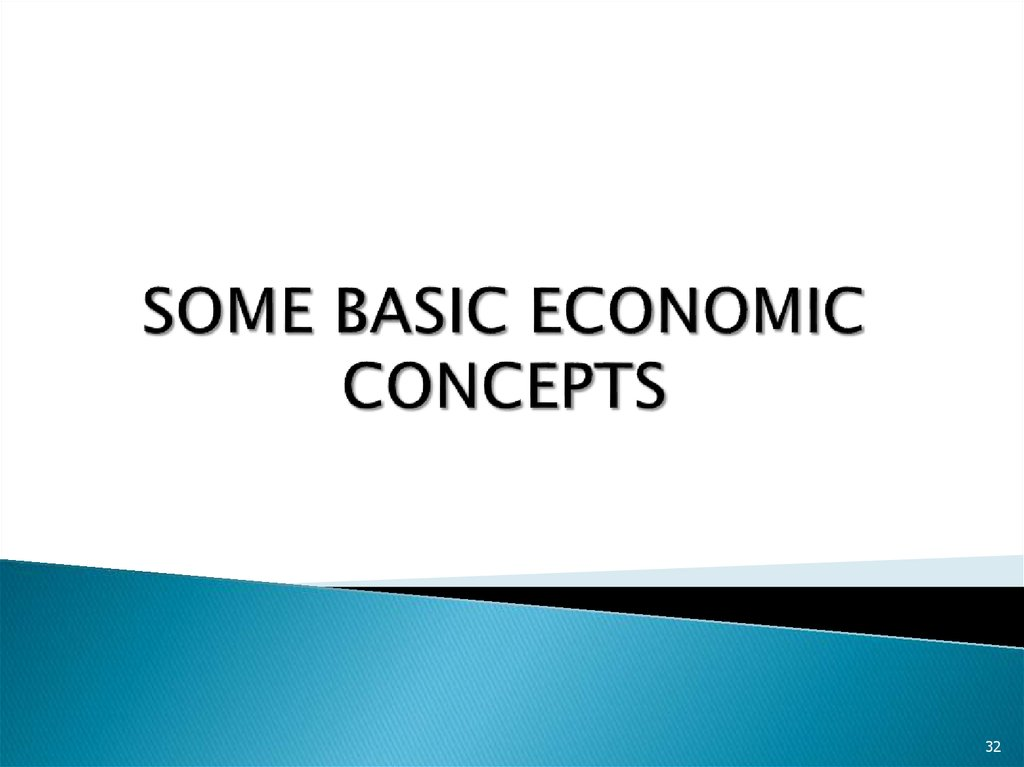 SOME BASIC ECONOMIC CONCEPTS