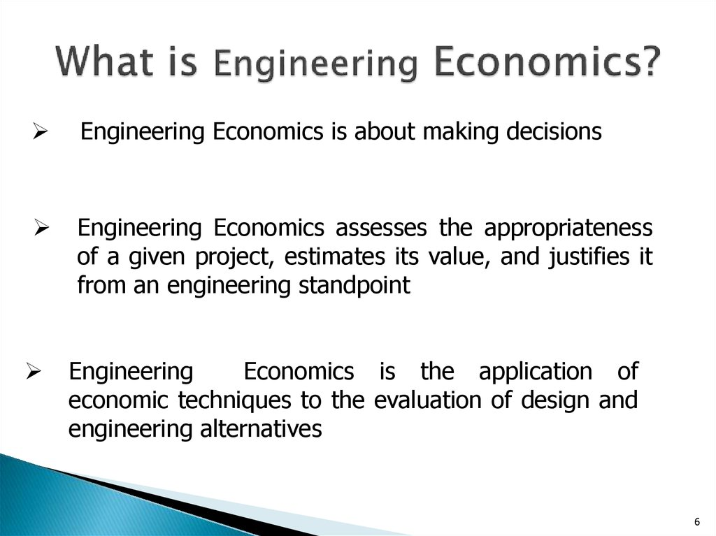 What is Engineering Economics?