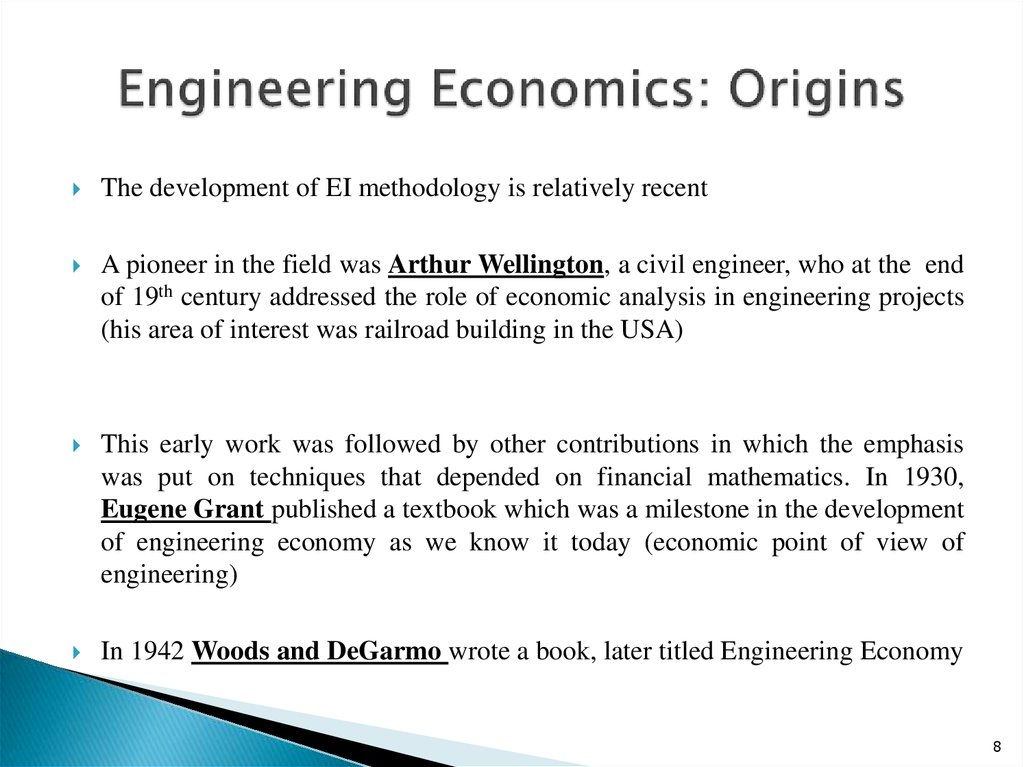 Engineering Economics: Origins
