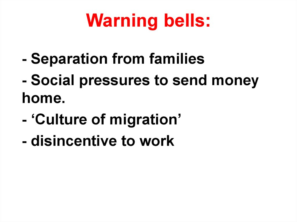 Warning bells: