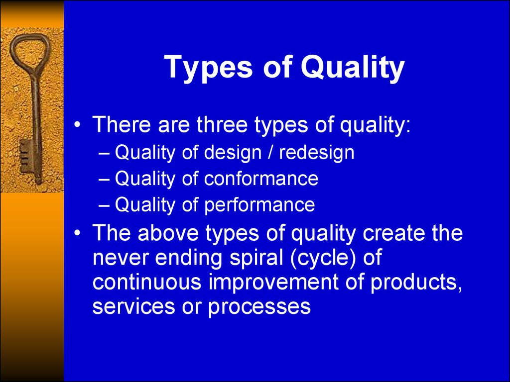 Types of Quality
