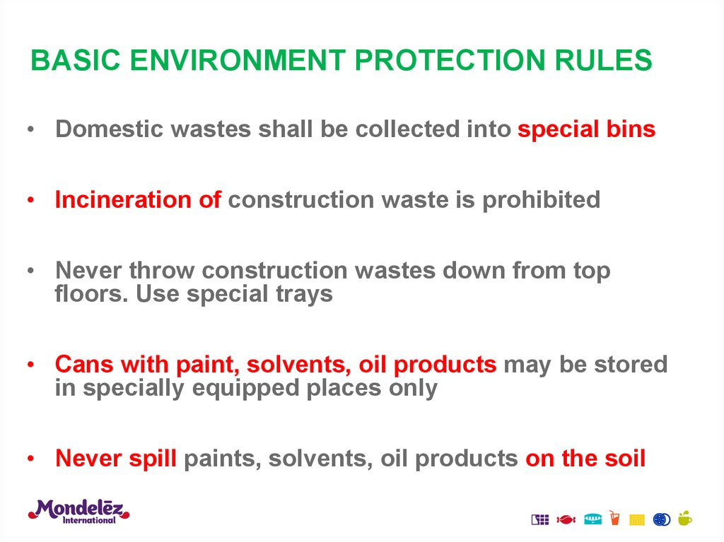 BASIC ENVIRONMENT PROTECTION RULES