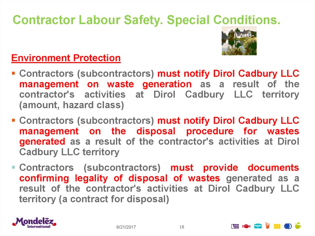 Contractor Labour Safety. Special Conditions.