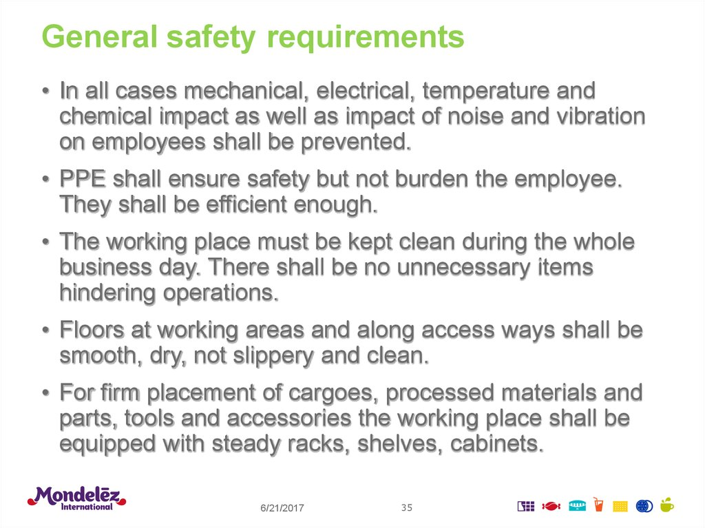 General safety requirements
