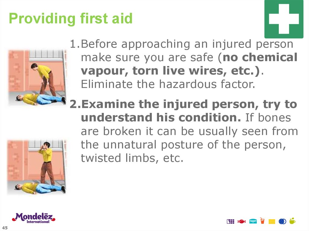 Providing first aid
