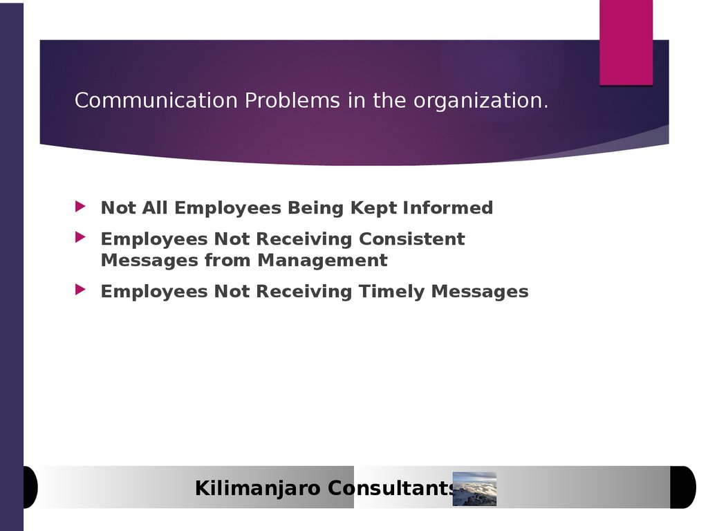 communication problems in organizations case study Literature, this article tracks this acquisition, from the perspective of benq, through a qualitative case study and focuses mainly on cultural differences and communication issues manifest in this unsuccessful business marriage.