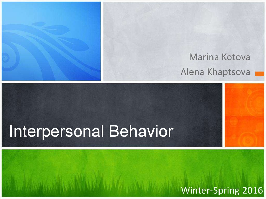 Interpersonal Behavior