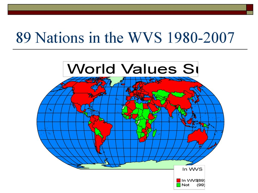 89 Nations in the WVS 1980-2007