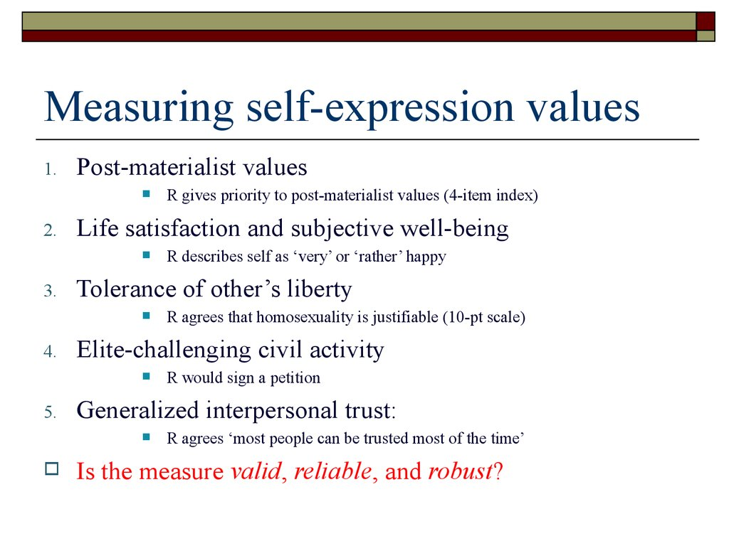 Measuring self-expression values