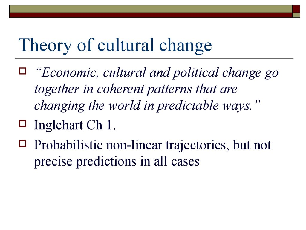 Theory of cultural change