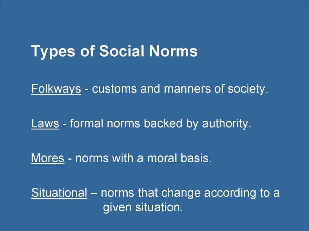 Types of Social Norms