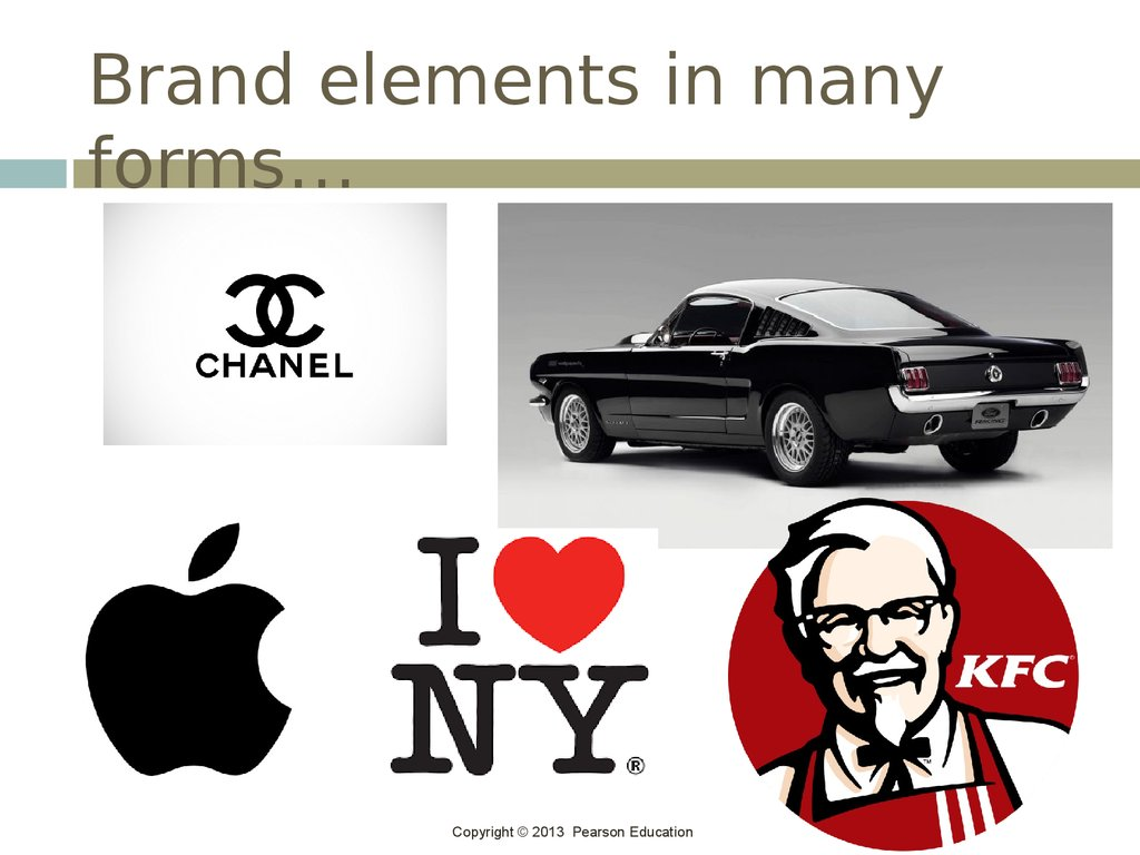 Brand elements in many forms…
