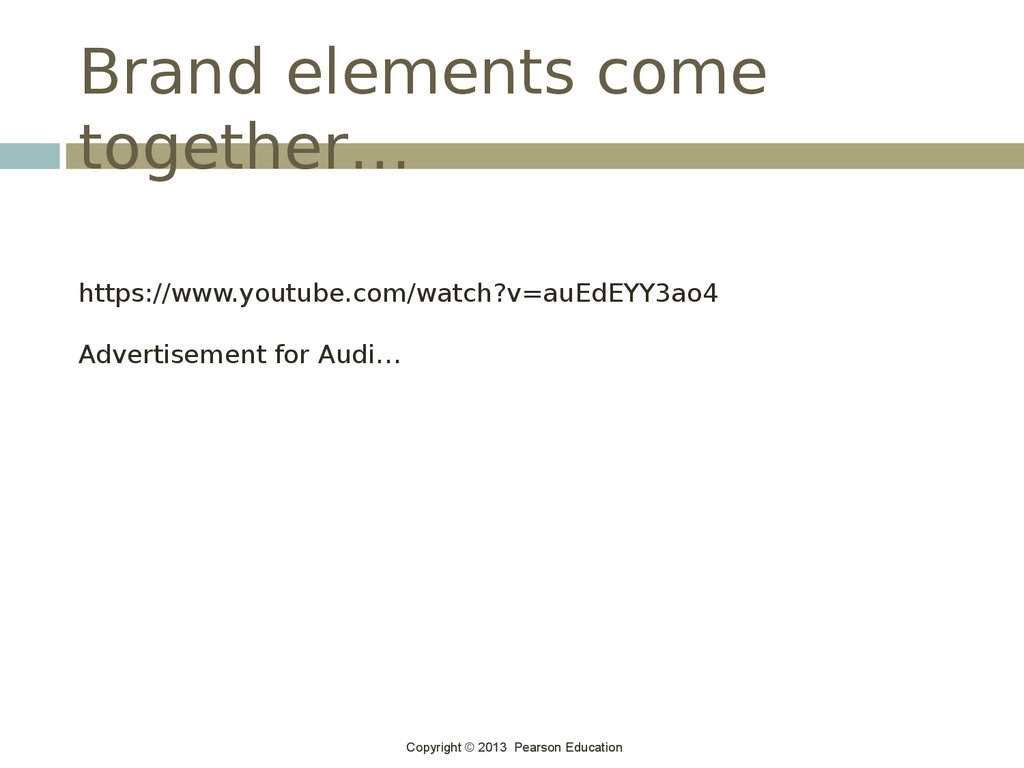 Brand elements come together…