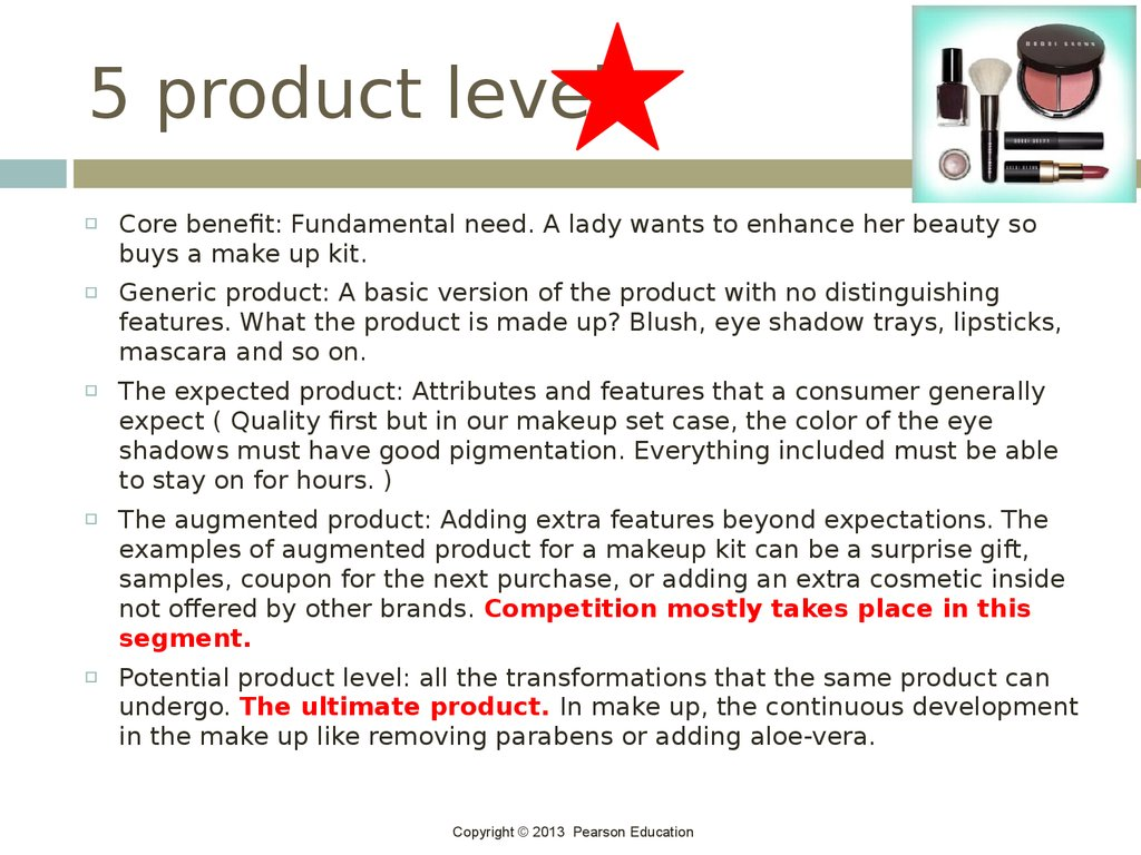 5 product levels