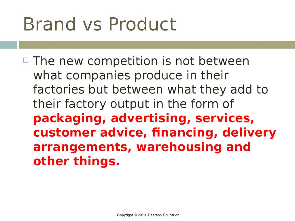 Brand vs Product