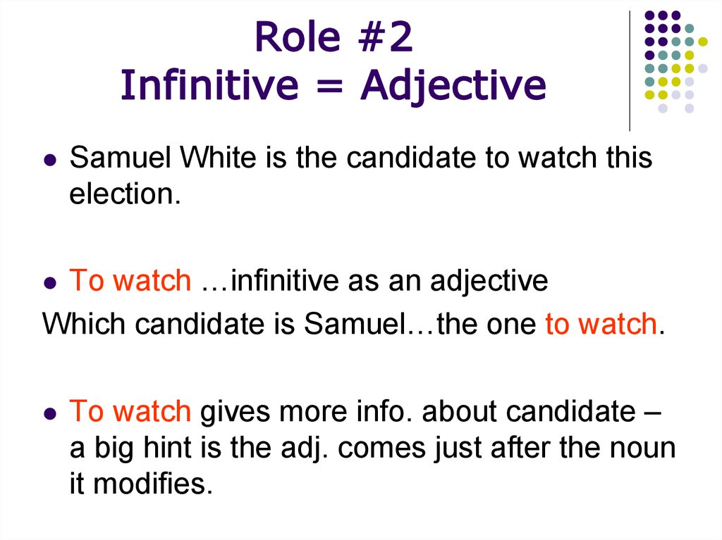 The Infinitive And The Infinitive Phrase Online Presentation