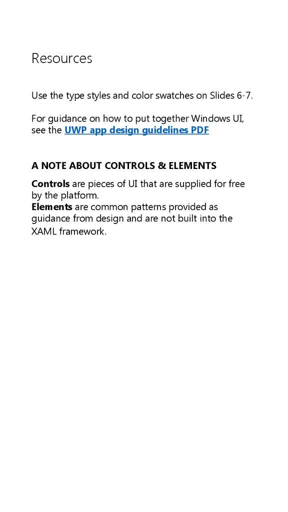 UWP app templates for phones - online presentation