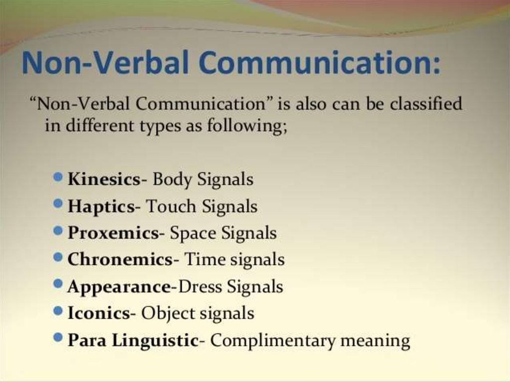 Verbal Non Verbal Communication Online Presentation The following guideline may help you more effectively encode nonverbal signals related to time. verbal non verbal communication