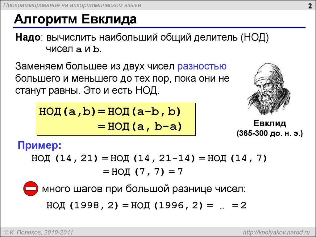 Блок схема алгоритма евклида фото 577