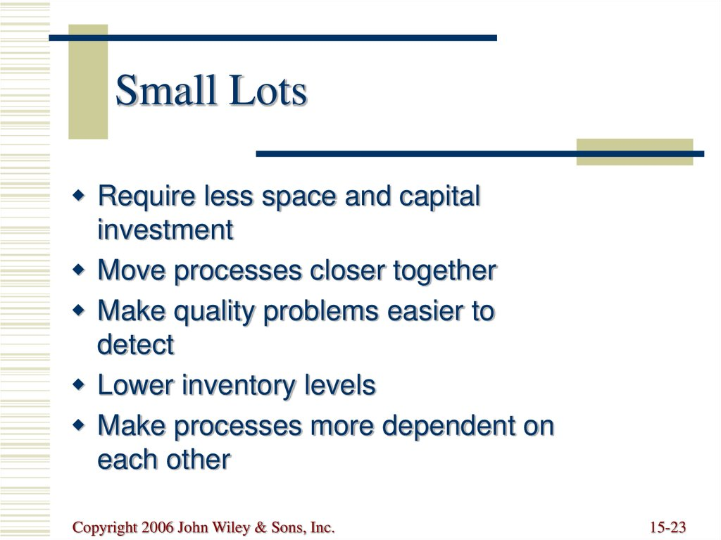 Small Lots