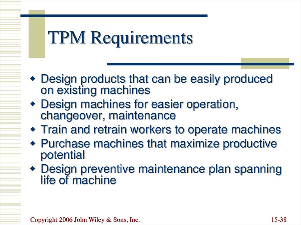 TPM Requirements
